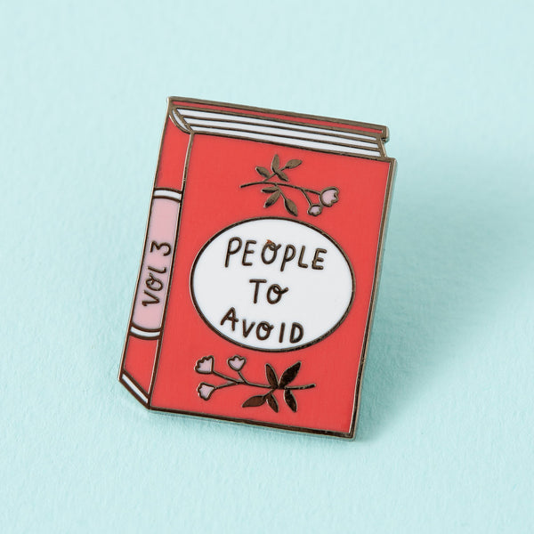 people-to-avoid-book-enamel-pin