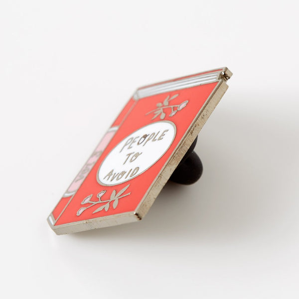 people-to-avoid-book-enamel-pin-side