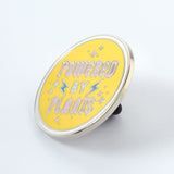 powered by plants enamel pin punky pins side view