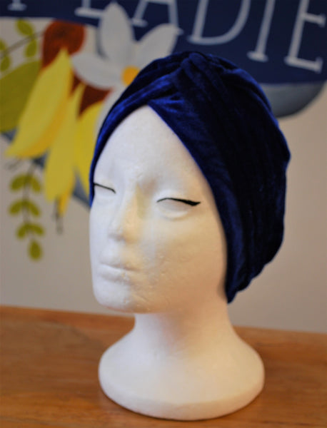 turban royal blue Two Lippy Ladies NZ