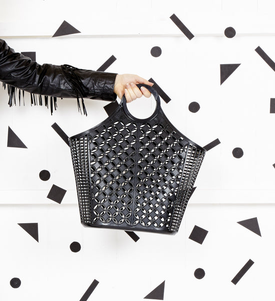 Sun Jellies black atomic tote