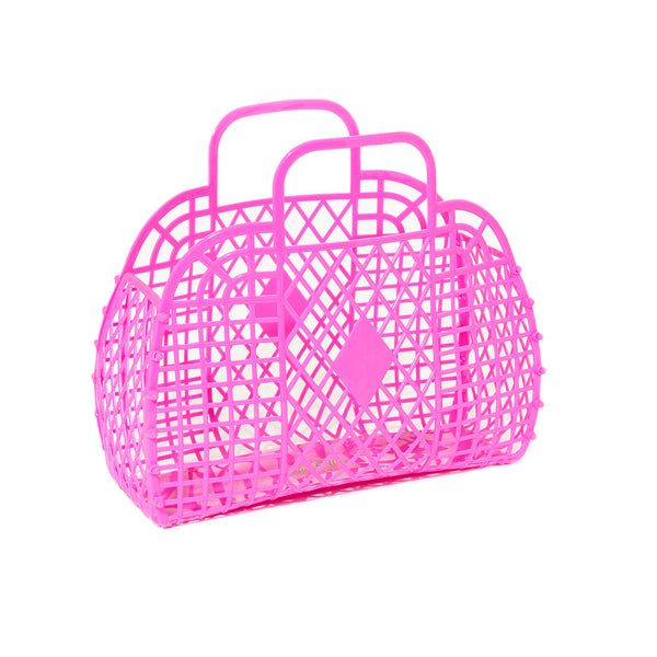 Mini retro basket hot pink
