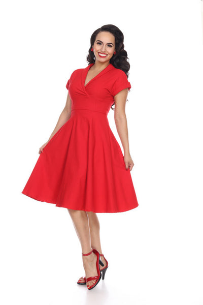 Bettie Page red Water Cooler dress NZ