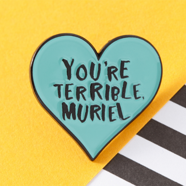 You're terrible muriel pinky pins NZ