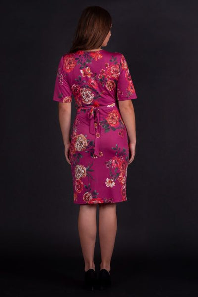Lady-vintage-yvonne-crimson-floral-dress-back
