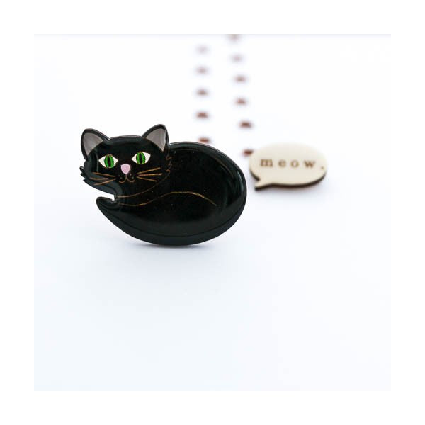 cat brooch NZ Two Lippy Ladies