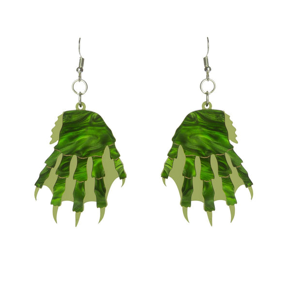 gill man monster earrings Sugar & Vice