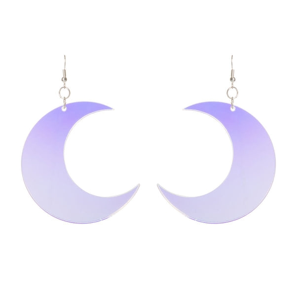 sugar and vice crescent moon earrings