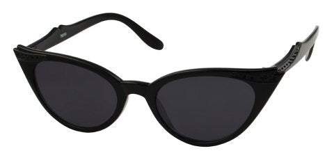 Lucy black cat eye sunglasses Two Lippy Ladies