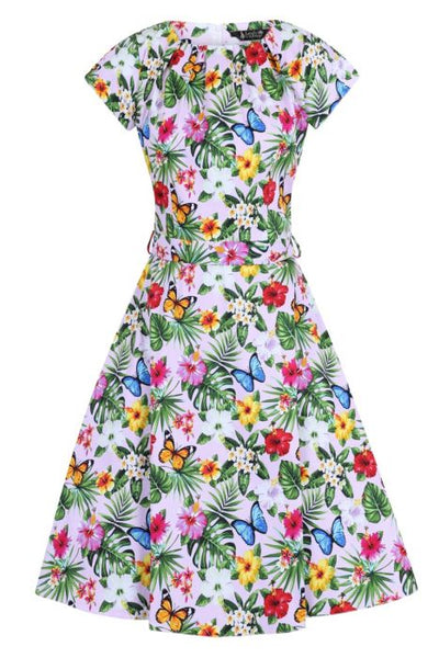 Lady Vintage summer floral pink Day dress NZ