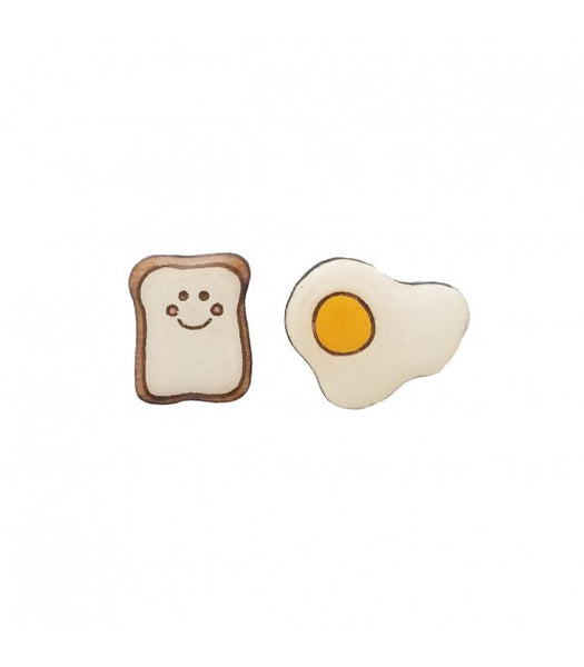 egg on toast earrings NZ