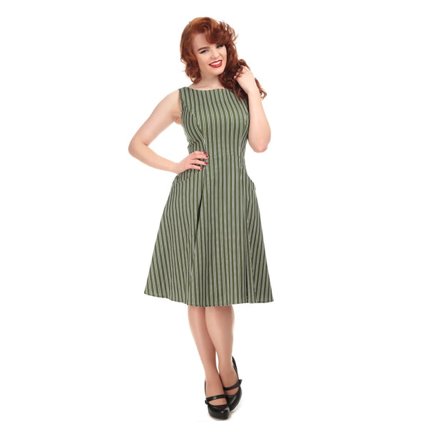 Collectif Hepburn olive stripe NZ
