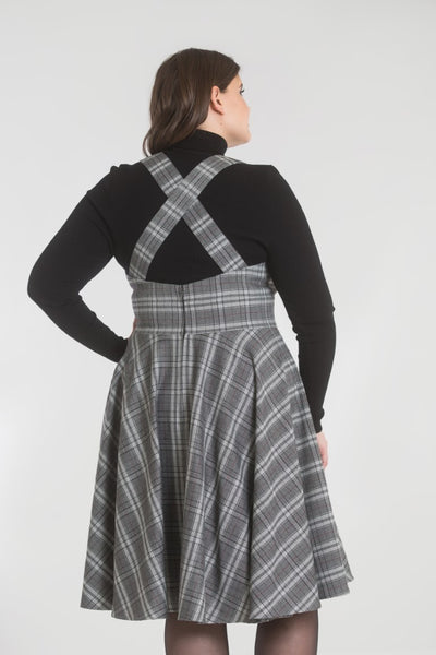 plus-size-grey-tartan-pinafore-hell-bunny-frostine-back