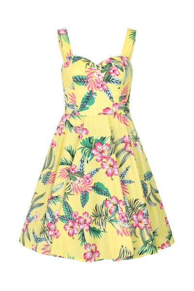 Hell-bunny-yellow-kalani-50s-dress-nz