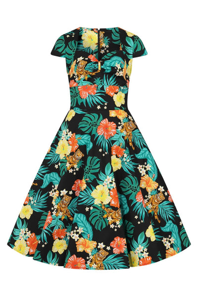 Hell-bunny-bali-tiger-50s-dress-nz
