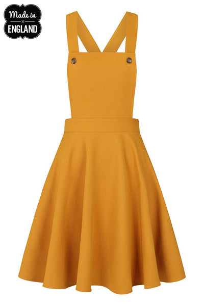 Amelie-mustard-pinafore-hell-bunny-nz