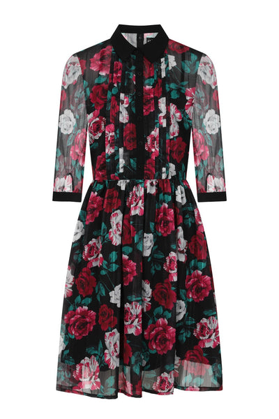 hell-bunny-bed-of-roses-dress-front