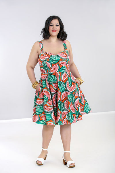 plus-size-Hell-bunny-watermelon-melonie-dress