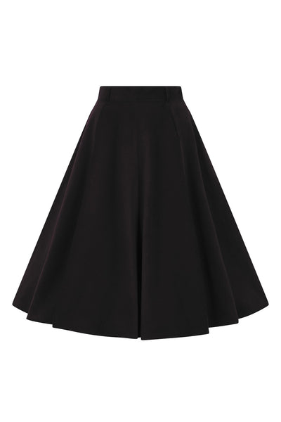 Hell Bunny black corduroy Jefferson skirt front