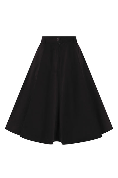 Hell Bunny black corduroy Jefferson skirt back