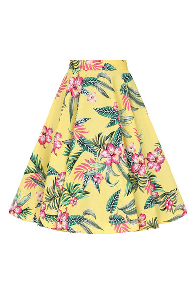 hell-bunny-yellow-kalani-50s-skirt-nz
