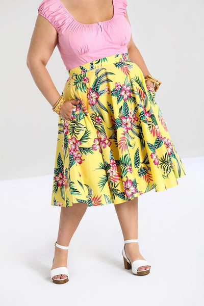 plus-size-hell-bunny-yellow-kalani-skirt-nz