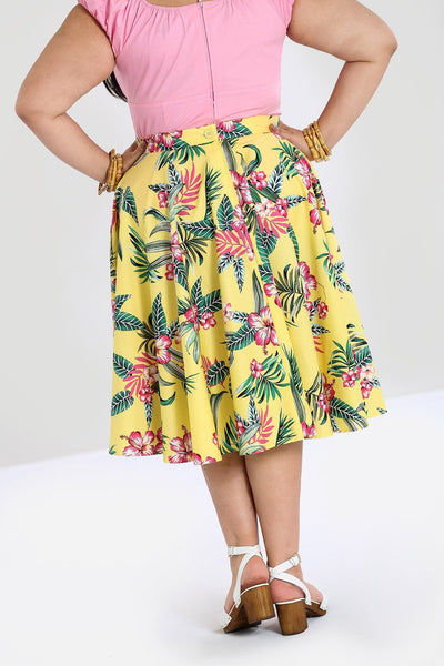 plus-size-hell-bunny-yellow-kalani-skirt-back