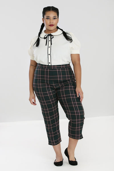 plus-size-green-tartan-cigarette-trousers