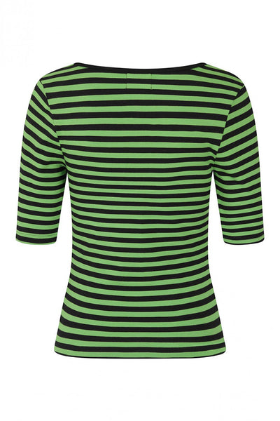 Hell-Bunny-black-green-striped-warlock-top-back