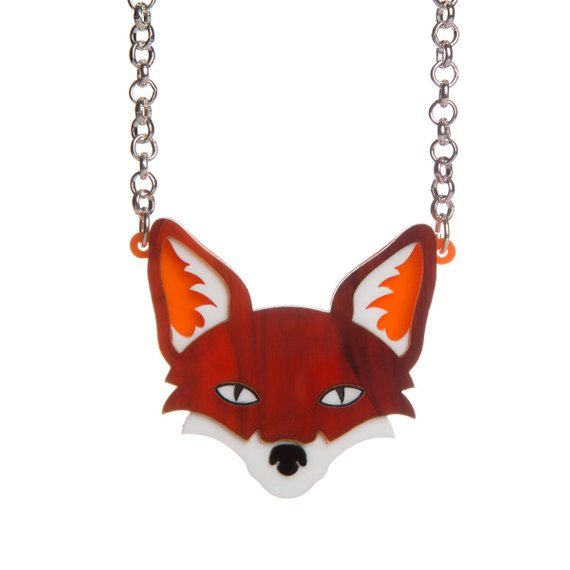 Sugar and Vice orange fox necklace NZ