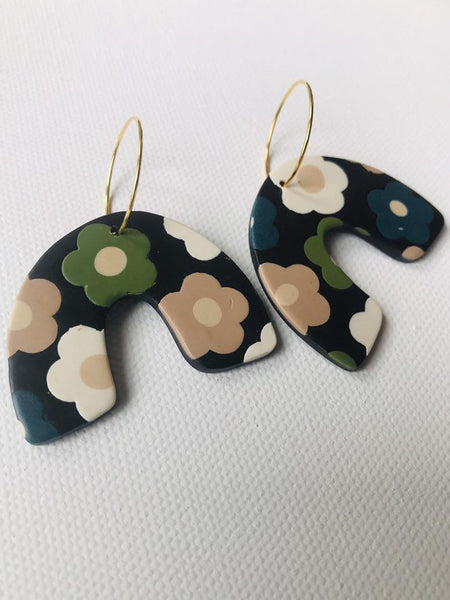 Navy & teal Beau earrings