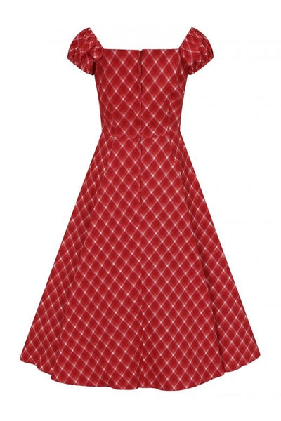 Holiday romance check Dolores dress