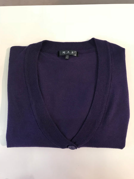 Grape 3/4 sleeve cropped cardigan