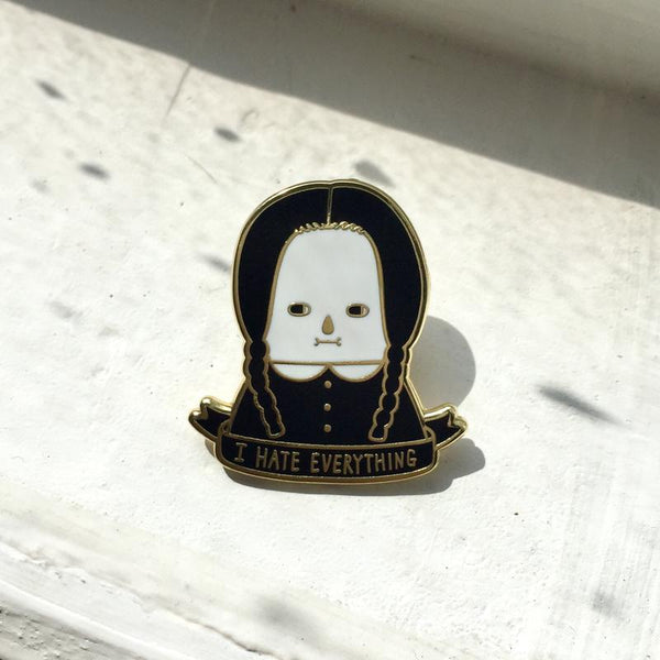 wednesday addams I hate everything minifanfan pin