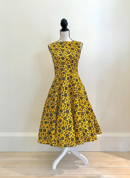 yellow floral Holi Boli ethical dress