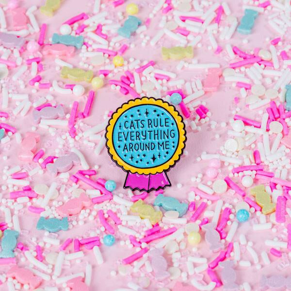Cats rule everything pin