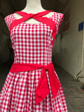 Olona red gingham dress