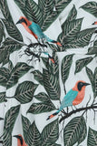 Lady Vintage botanical birds print Kalita kimono dress tie detail NZ