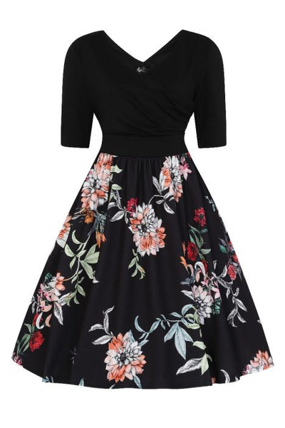 Lady Voluptuous Lyla dress in autumn floral front