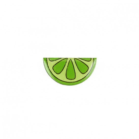 lime lapel pin