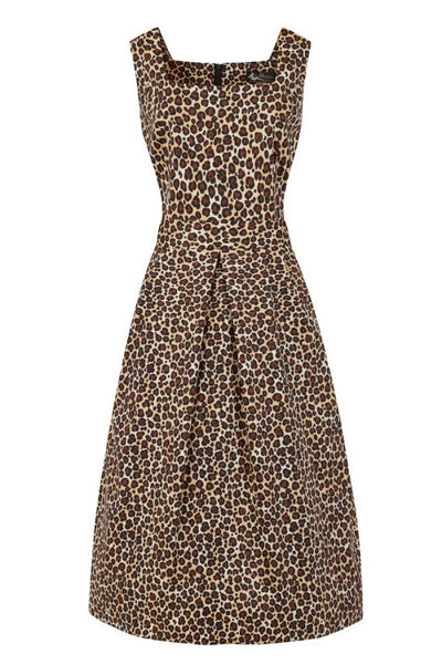 plus-size-lady-voluptuous-leopard-midi-dress