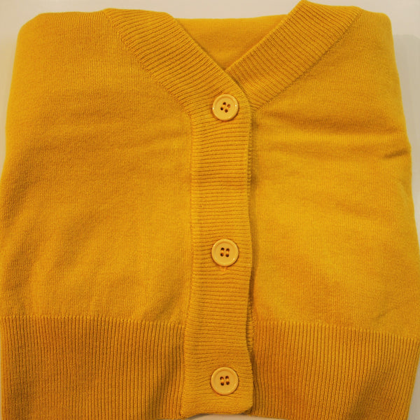 MAK plus sized honey mustard cropped cardigan
