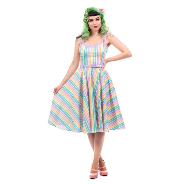 Collectif pastel rainbow Nova dress NZ