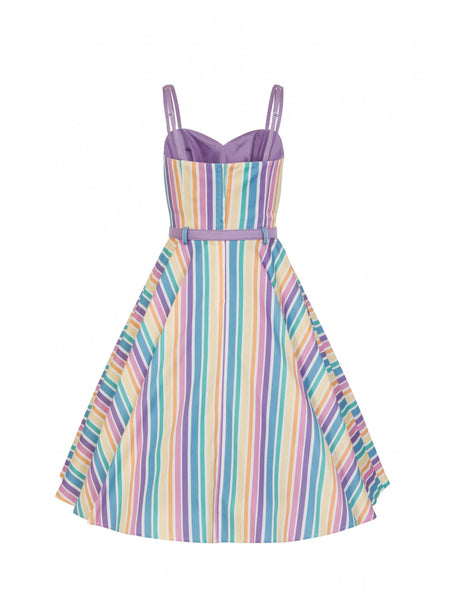 Nova rainbow stripes swing dress