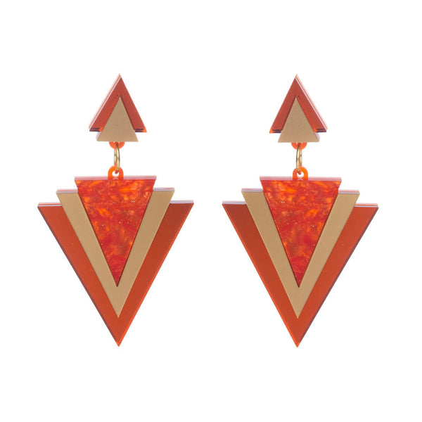 orange-galaxy-triangle-earrings
