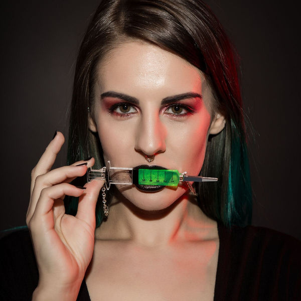 Sugar & Vice Re-Animator syringe necklace