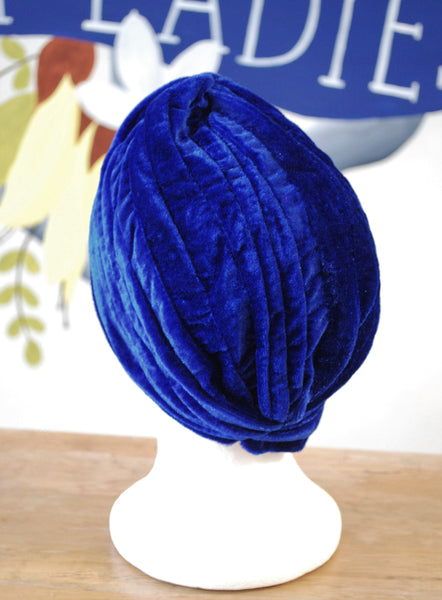 royal blue turban back Two Lippy Ladies