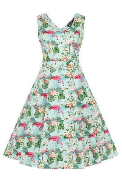 Jamaican flamingo Charlotte Lady Vintage dress