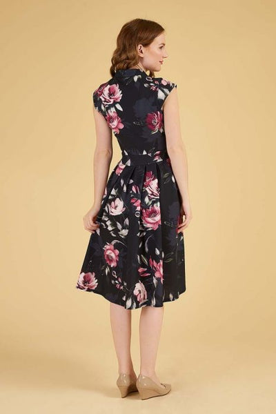 Lady Vintage Amaryllis Eva dress back