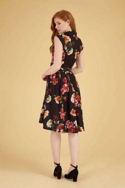 Lady Vintage tamarillo Eva dress modeled back